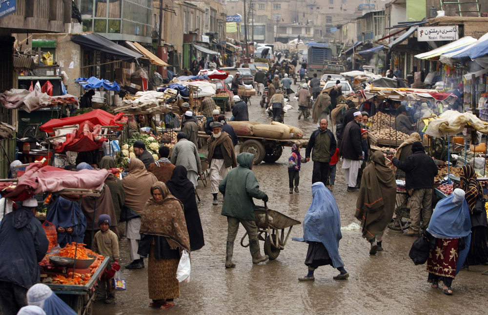 An Afghan market, Feb 2009